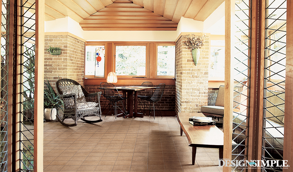 porch, natural flooring
